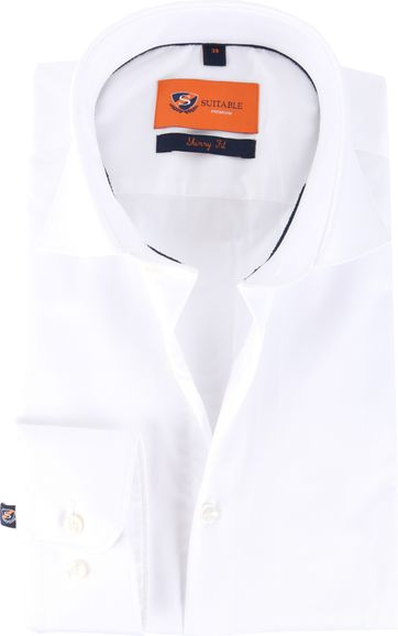 Skinny Fit Overhemd Wit 132-1