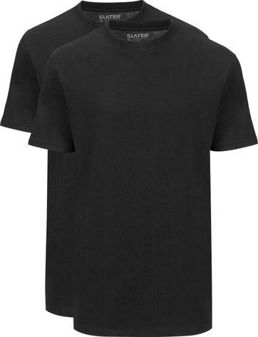 Slater 2-pack American T-shirt Black