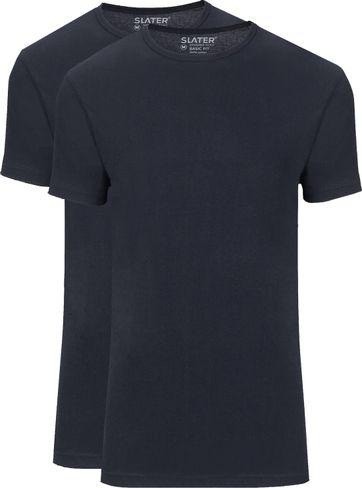 Slater 2-pack Basic Fit T-shirt Navy