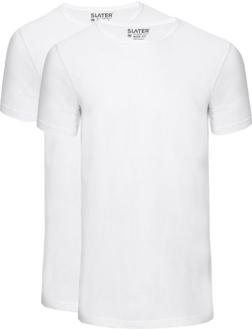 Slater 2-pack Basic Fit T-shirt White