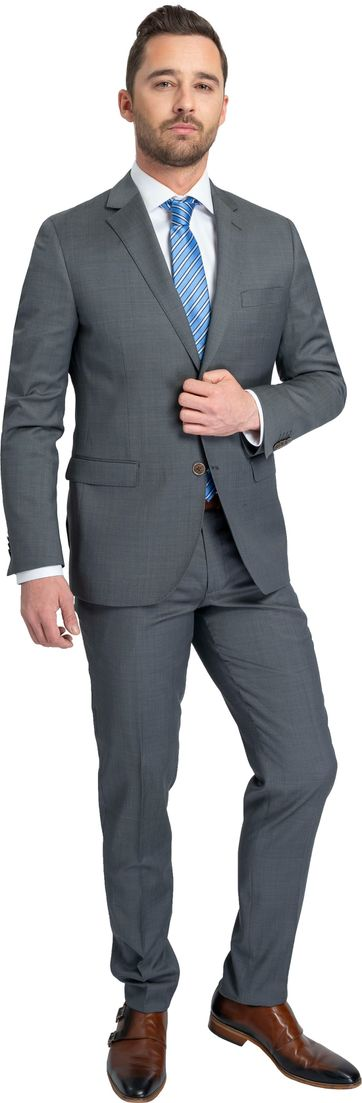 Suitable Anzug Lucius Apasa Dunkelgrau