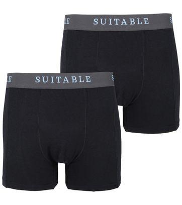 Suitable Bamboe Boxershorts 2-Pack Zwart