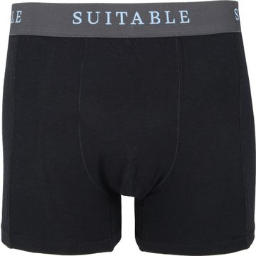 Suitable Bamboo Boxershorts 2-Pack Black