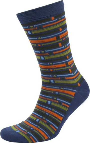Suitable Bamboo Pattern Socks Multicolour