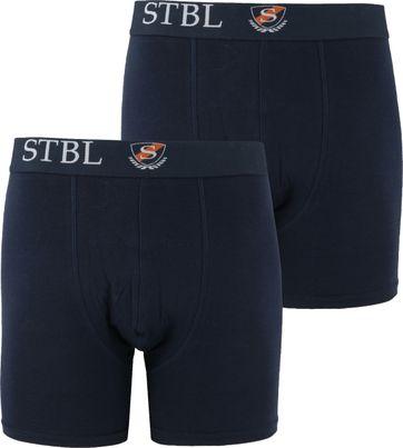 Suitable Boxershort 2Pack Dark Blue