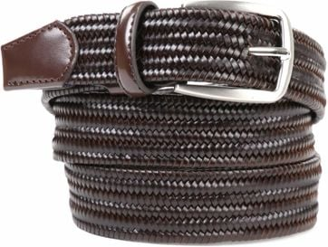 Suitable Braided Belt Dark Brown