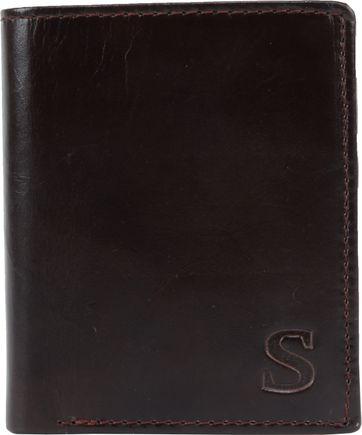 Suitable Brieftasche Nikkei Dunkelbraun Leder - Skim Proof