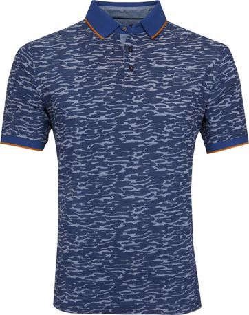 Suitable Camouflage Poloshirt Indigo