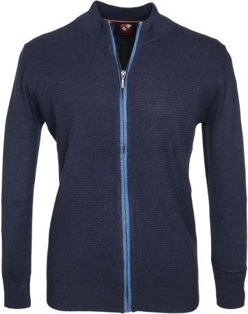 Suitable Cardigan Hank Navy