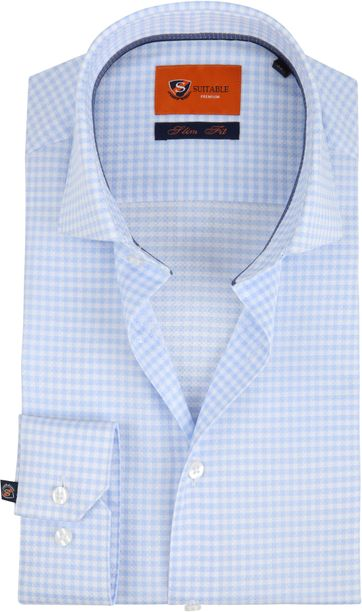 Suitable Checks Blue Shirt