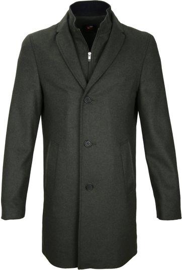 Suitable Coat Hans Melton Dark Green