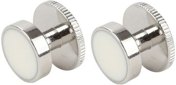 Suitable Cufflinks Steel Silver White
