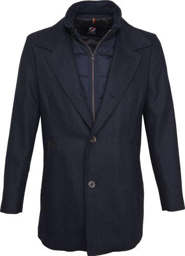 Suitable Geke Coat Herringbone Dunkelblau