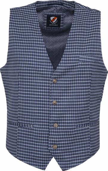 Suitable Gilet Kris Serres Blauw