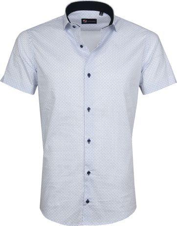 Suitable Hemd Carre Weiß Blau