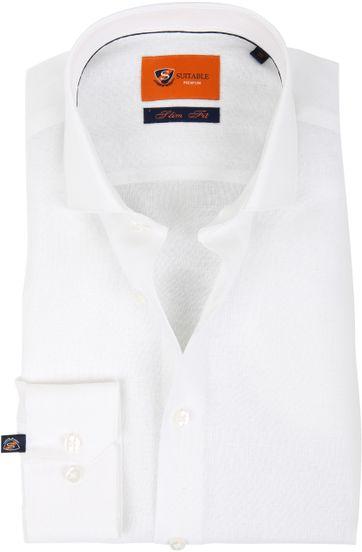 Suitable Hemd Leinen Weiß D81-13