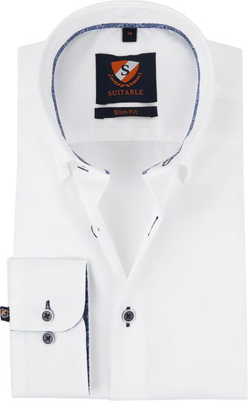 Suitable Hemd Oxford HBD Weiß
