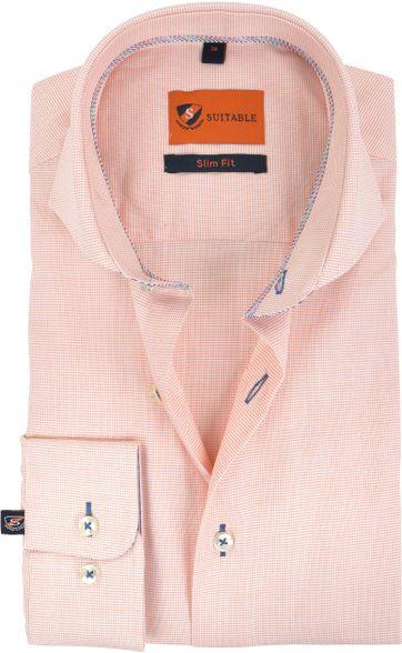 Suitable Hemd Pinpoint Orange 174-3