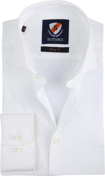 Suitable Hemd Skinny Fit Weiß