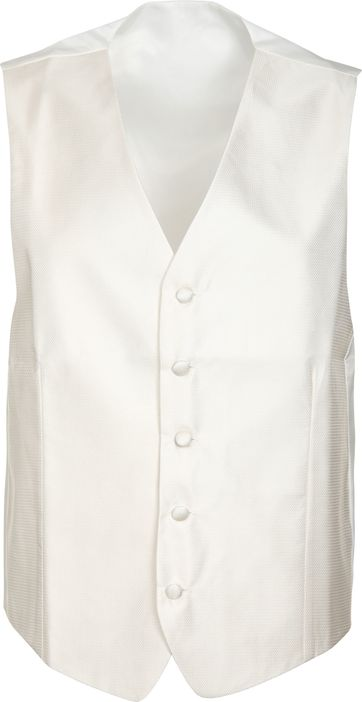 Suitable Hochzeit Gilet V-Design Off-White