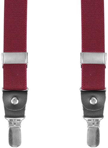 Suitable Hosenträger Bordeaux Rot