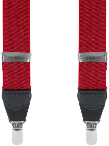 Suitable Hosenträger Rot