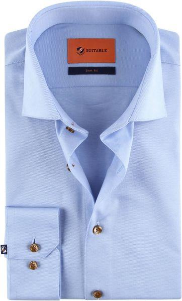 Suitable Jersey Overhemd Blauw