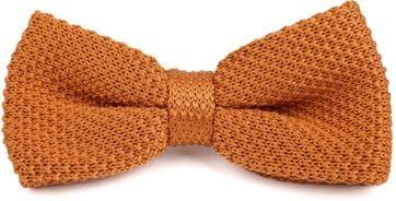 Suitable Knitted Smoking Fliege Orange