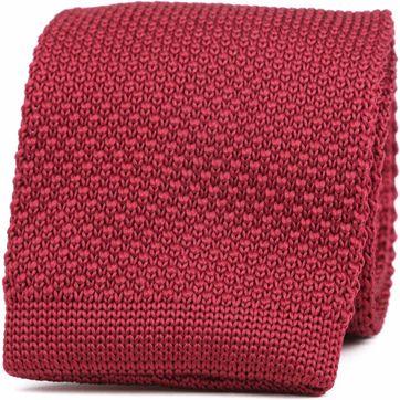 Suitable Knitted Stropdas Bordeaux