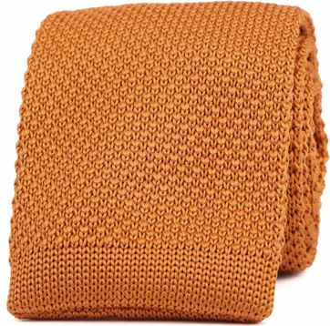 Suitable Knitted Tie Orange