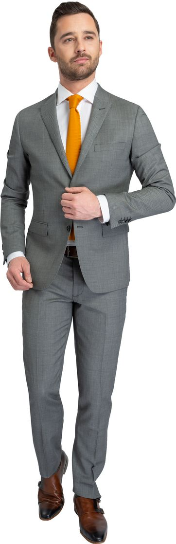 Suitable Kostuum Strato Birdseye Antraciet