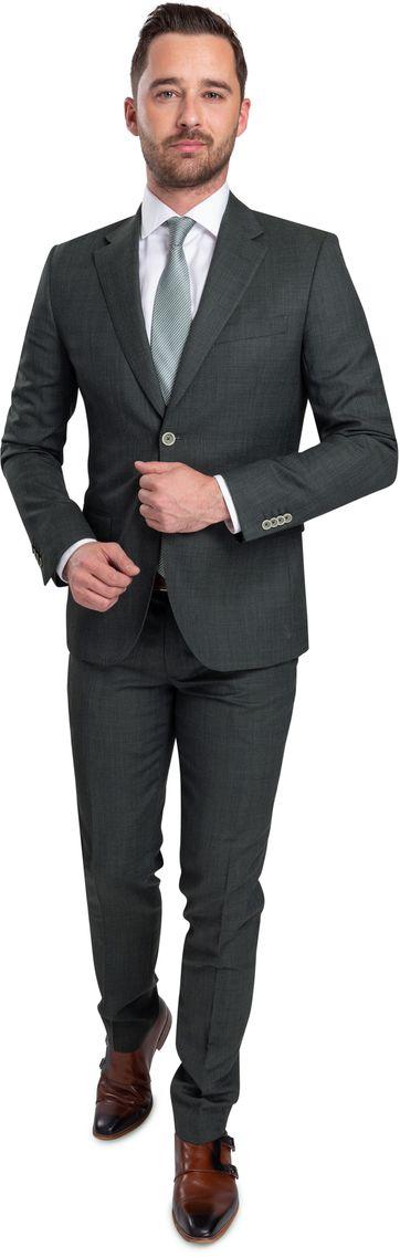 Suitable Kostuum Strato Donkergroen
