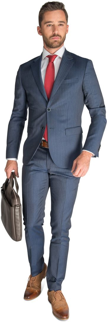 Suitable Kostuum Wien Blauw