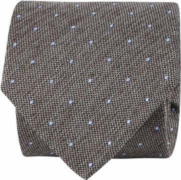 Suitable Krawatte Punkte Braun