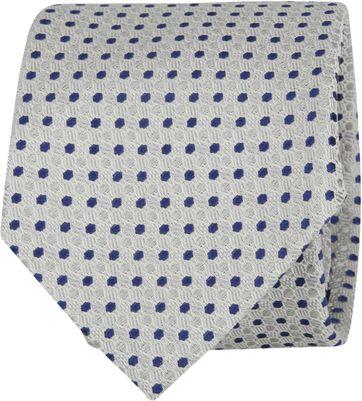 Suitable Krawatte Punkte Grau Navy