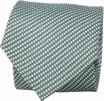 Suitable Krawatte Seide Karo Green F91-23