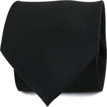 Suitable Krawatte Seide Schwarz