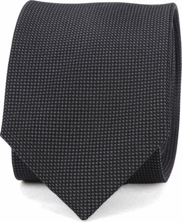 Suitable Krawatte Seide Schwarz 10