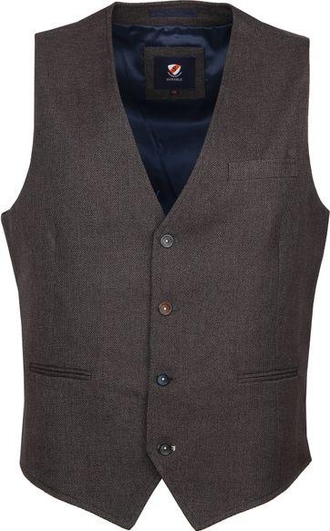 Suitable Kris Waistcoat Dark Grey