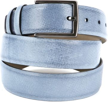 Suitable Leather Belt Light Blue