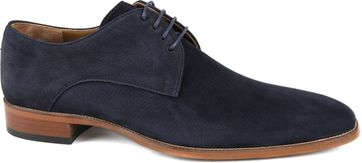 Suitable Leather Shoe Dark Blue