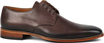 Suitable Leather Shoe Dark Brown