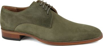 Suitable Leather Shoe Dark Green