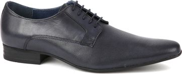 Suitable Leder Schuh Derby Navy