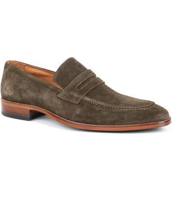 Suitable Loafer Suede Grün