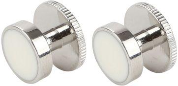 Suitable Manschettenknöpfe Stahl Silber Weiß