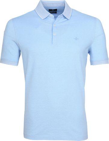 Suitable Melange Poloshirt Hellblau