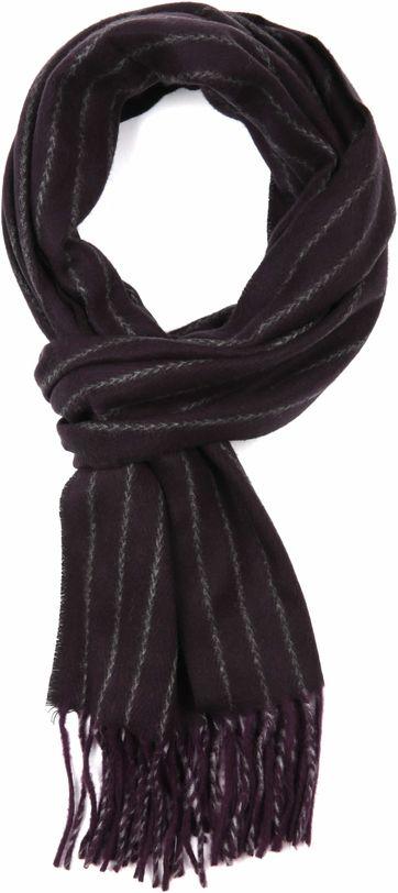 Suitable Men's Scarf Purple Stripes 18-19
