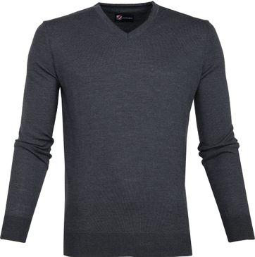 Suitable Merino Pullover Antraciet