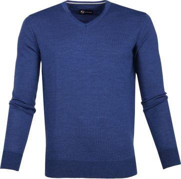 Suitable Merino Pullover Blauw
